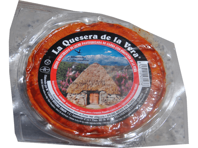 Semi-Hard Goat's Milk Cheese La Quesera With Smoked Paprika